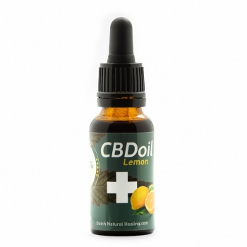20ml Vollspektrum CBD-Öl Tropfen 8% (1600mg) Lemongeschmack Dutch Natural Healing