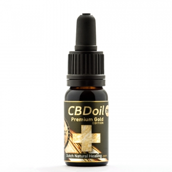 10ml Vollspektrum CBD-Öl Tropfen 25% (2500mg) Premium Gold Edition Dutch Natural Healing