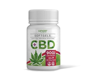 CBD full spectrum softgel capsules 900mg - Valeo